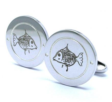 cufflinks with a drawing