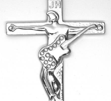 croix johnny hallyday argent