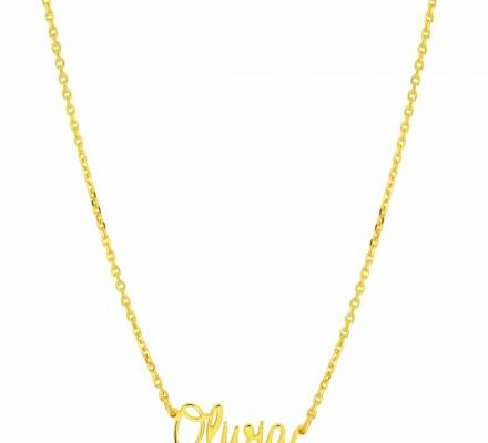 gold plated name chain
